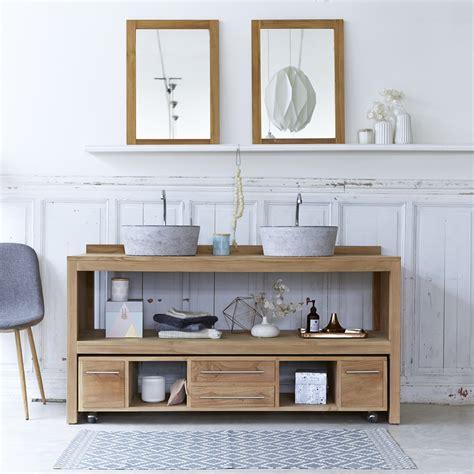bureau scandinave vintage meuble salle de bain en teck brut meubles layang duo
