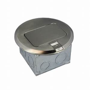 1 gang electrical pop up stainless steel brass floor box With carlon floor outlet