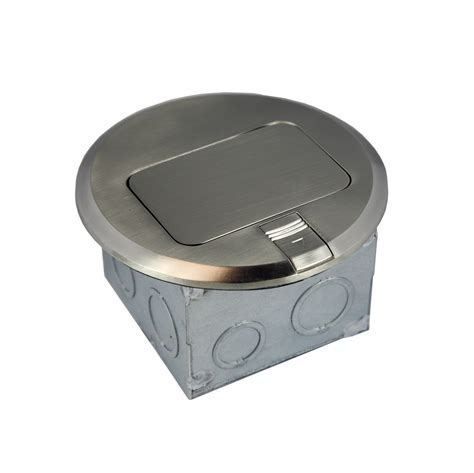 1 Gang Electrical Pop up Stainless Steel/Brass Floor Box