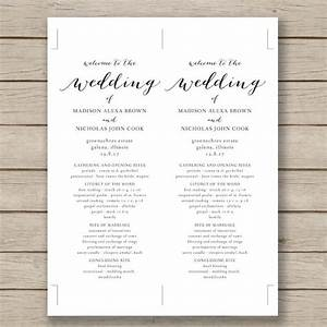 wedding program template 41 free word pdf psd With wedding ceremony program templates