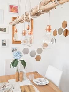 Treibholz Lampe Decke : diy kupfer lampe in 2019 home pinterest lampen esszimmer und lampen esszimmer ~ Frokenaadalensverden.com Haus und Dekorationen
