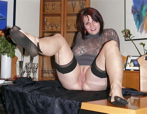 Hot MILFS In Stockings Spreading Their Legs Pics