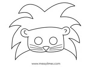 Lion Mask Templates Printable