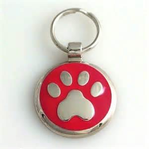 cat id tags pet id tag paw print custom engraved cat and id