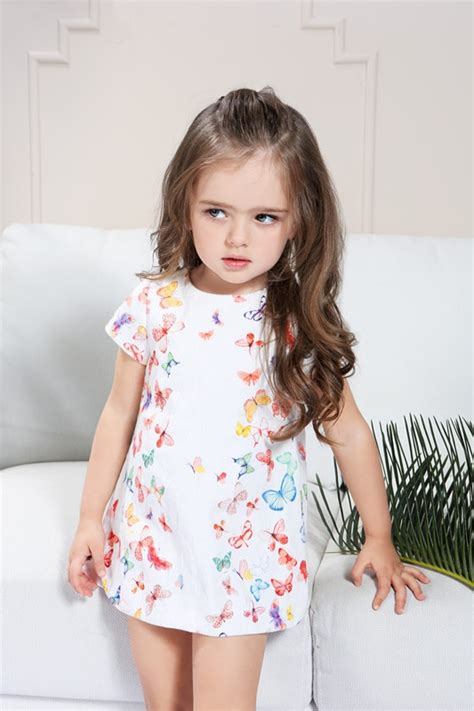 toddlers summer dress  girl      years  baby girls clothes butterfly cute dress formal evening dinner dresses kids  dresses