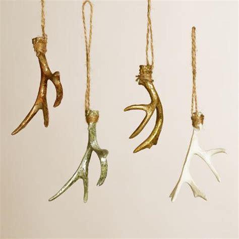 deer antler ornaments set of 4 world market