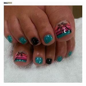 Sunset Toe Nail Art | Toe Nail Art Designs | Pinterest