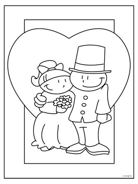 Kleurplaat Trouw by Trouwen Kleurplaat Search Bruiloft Knutselen