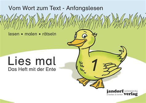 lies mal 8 lies mal 1 das heft mit der ente lesen schulb 252 cher jandorfverlag