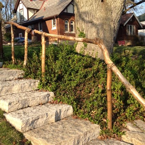 Wooden Handrails For Outdoor Steps - 16 best images about garden railings on rustic