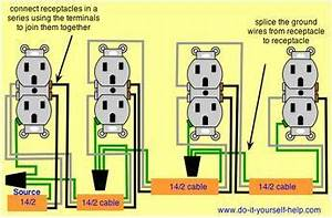 Electric Plug House Wiring : wiring diagram for a series of receptacles home ~ A.2002-acura-tl-radio.info Haus und Dekorationen