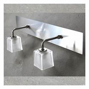 Luminaire Salle De Bain Design : luminaire salle de bain double boreal achat vente luminaire salle de bain dou verre nickel ~ Teatrodelosmanantiales.com Idées de Décoration