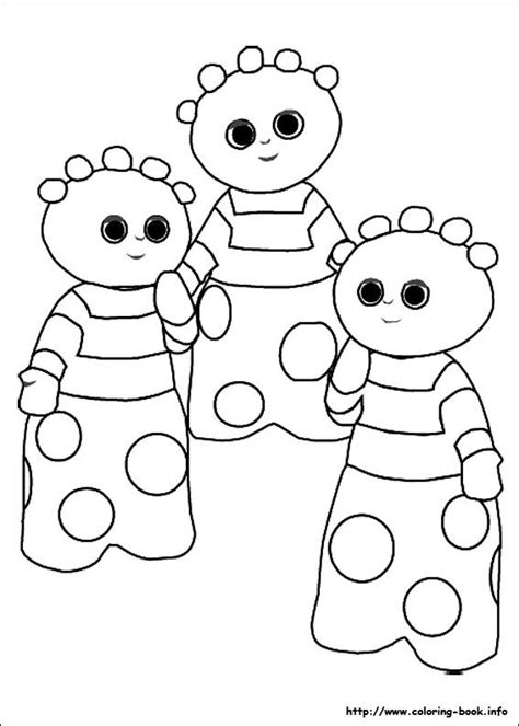 night garden coloring picture upsy daisy party