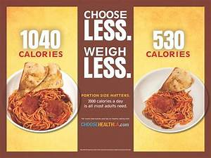 Choose Less  Weigh Less  Portion Size Matters