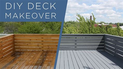 diy deck makeover  behr deckover youtube