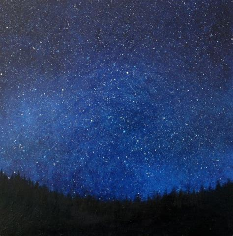reserved  chris night sky oil painting tear