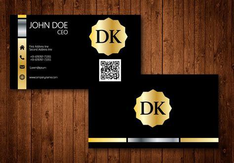 golden business card   vector art stock