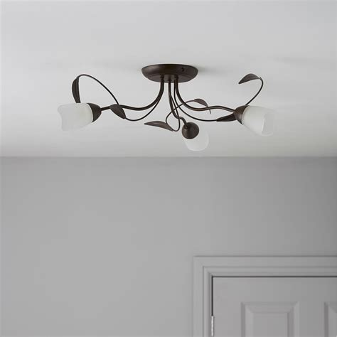 cloe brown bronze effect  lamp ceiling light