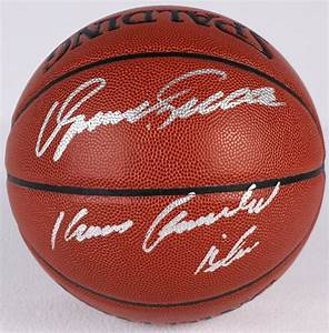 """Dominique Wilkins Signed Basketball Inscribed """"Human ..."""