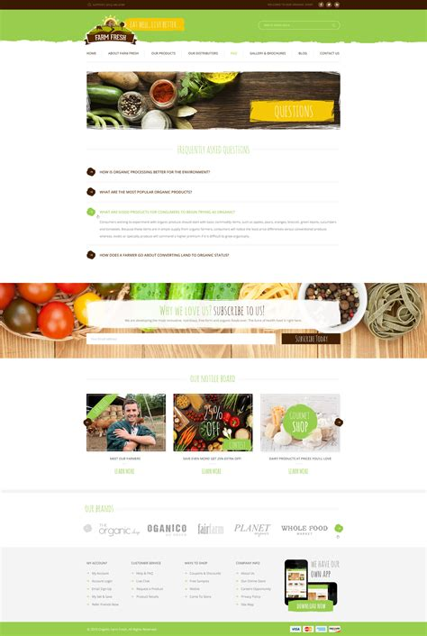 Farm Fresh Organic Products Html Template