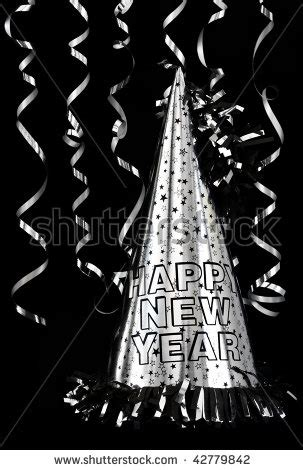 Black and Silver Happy New Year