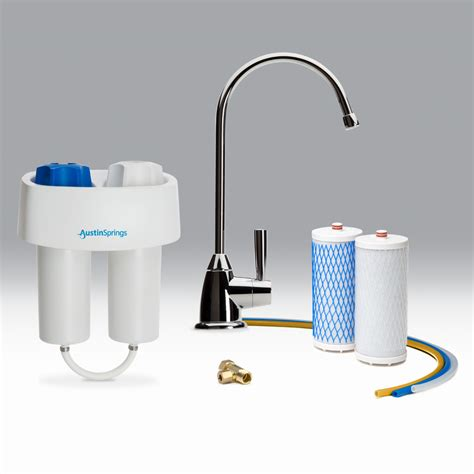 whole house filter counter water filter with chrome faucet springs