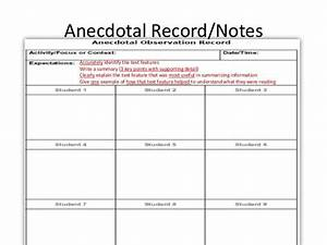 image result for anecdotal notes template teachers k With anecdotal assessment template