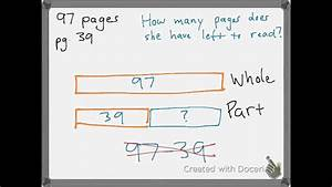 Tape Diagram Subtraction
