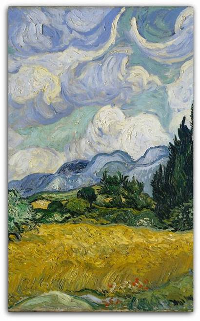 Wheat Gogh Vincent Field Cypresses Painting Metmuseum