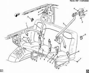 2007 Chevrolet Express Belt Kit  Rear Seat  2  Rear Seat