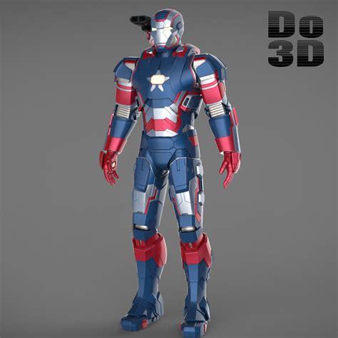 printable model  iron man patriot armor suit