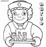 Nurse Coloring Medication Printable Funny Drawing Hat Colorings Nurse5 Getdrawings sketch template