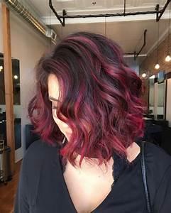 Balayage Rot Braun : 30 blushing burgundy ombre hair ideas ravishing in red hairstylezz ~ Frokenaadalensverden.com Haus und Dekorationen