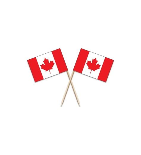 Canada Flag Toothpicks - A Bit of Home (Canada