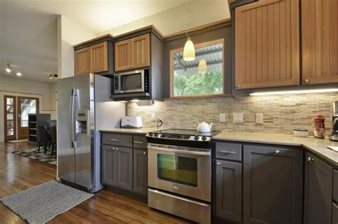 shining examples    toned kitchen cabinet trend