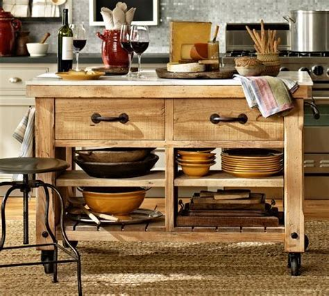 Marble Top Kitchen Island On Wheels by Hamilton Reclaimed Wood Marble Top Kitchen Island
