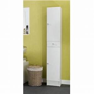 armoire faible profondeur wikiliafr With porte de douche coulissante avec colonne salle de bain blanche pas cher