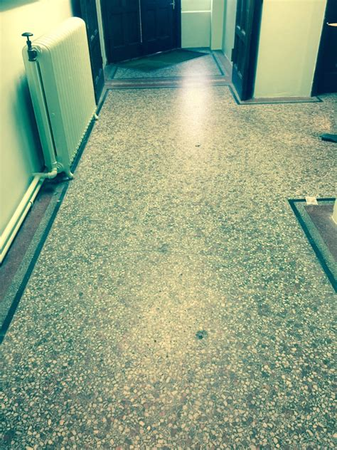terrazzo tiled church floor restored in redhill cleaning