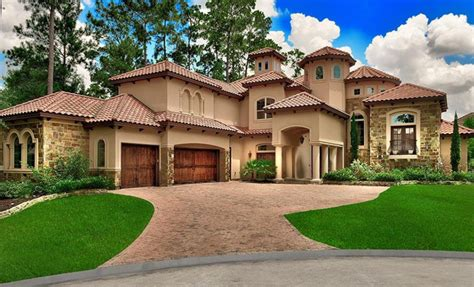 mediterranean style home in the woodlands homes