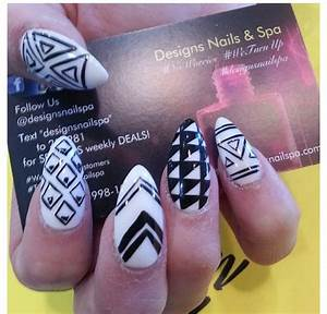 Stiletto tribal nails cute | Nails