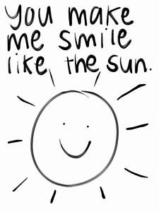 handwritten wit... Sun And Smile Quotes