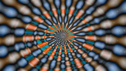 Illusion Optical 3d Abstract Colorful Circle Shells