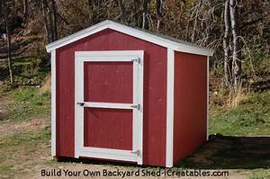 shed plans how to build a shed icreatables With 8x10 barn shed