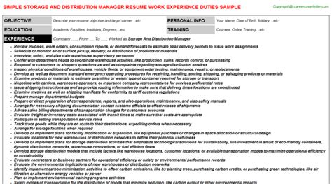 distribution resume cover letter 187 www restaurant frintrop de