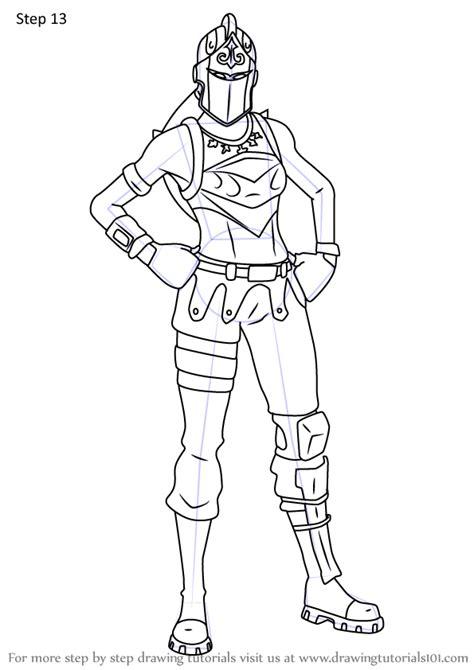 learn   draw red knight  fortnite fortnite step  step drawing tutorials