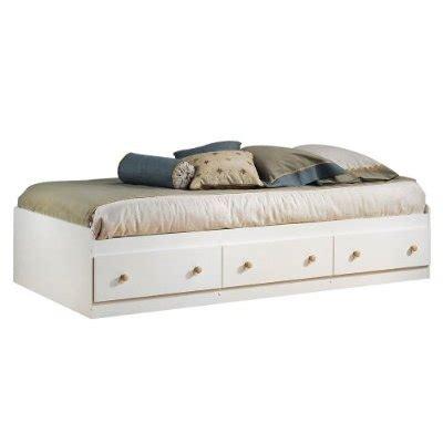 twin size mates platform bed  whitemaple   storage