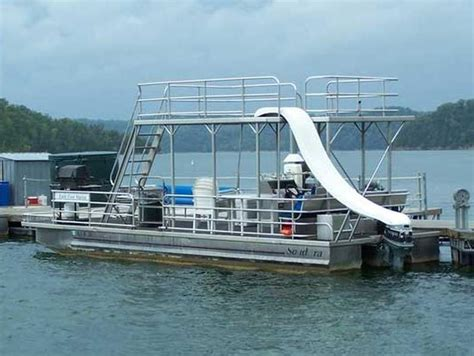 Deck Pontoon With Slide by Dale Hollow Lake Boat Rentals More