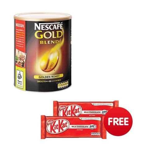50x stick instant packets nescafe classic dark roast instant coffee no sugar. Nescafe Gold Blend Instant Coffee Tin 750g Ref 5200350 - 2 Free packs of Kit Kat - UK Office ...