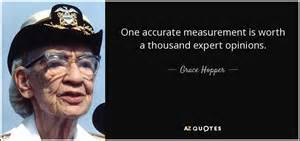 grace hopper quote  accurate measurement  worth