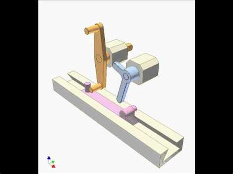 slider crank mechanism  elbow lever  youtube